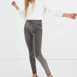 Madewell High Rise Skinny Corduroy Pants
